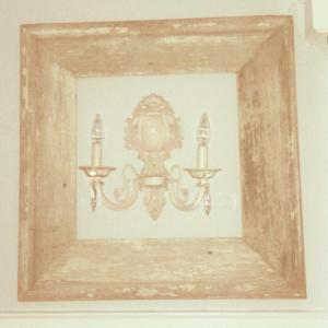 framed sconce